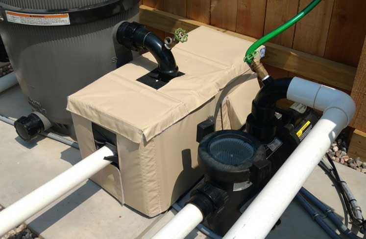 cover for pool pump noise reduction