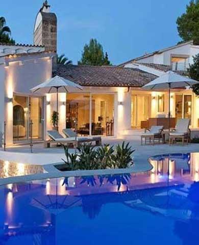 swimming pool at backyard